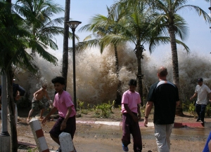 Impact of the 2004 Boxing Day tsunami in Thailand. Credit: David Rydevik