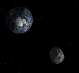 Artist's impression of 2012 DA14 approaching Earth. Credit: NASA/JPL.