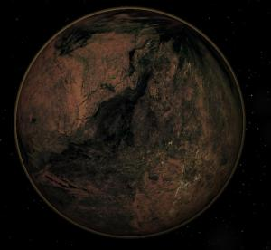Artist's rendition of a carbon planet.
