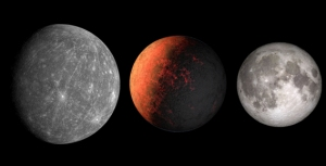 Size comparision of Mercury, Kepler-37b, and the Moon. Credit: NASA and Phil Plait.