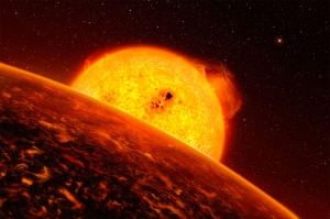 Artist's impression of a hot planet like Kepler-37b. Credit: ESO/L. Calçada.