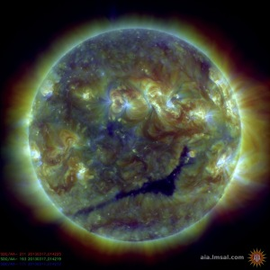The Sun as seen by the Solar Dynamics Observatory. Credit: NASA/LMSAL.
