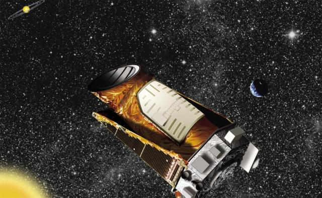 Artist's rendition of the Kepler spacecraft. Credit: NASA/Ames/JPL-Caltech.