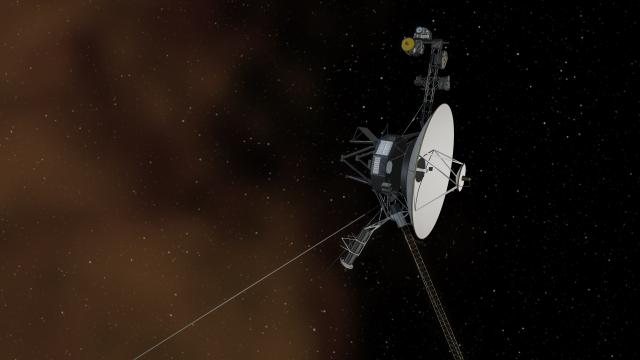 Artist's rendering of Voyager 1 in interstellar space.