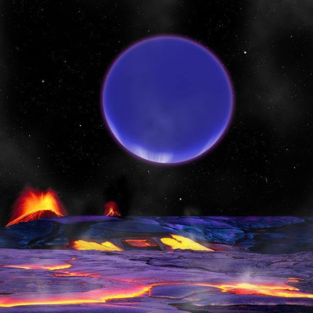 Artist's concept of the planets orbiting Kepler-36. Credit: Harvard-Smithsonian Center for Astrophysics/David Aguilar.
