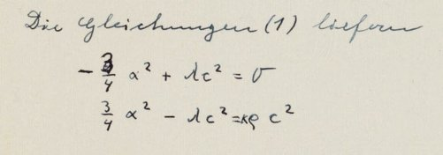 One of Einstein's mathematical mistakes. Credit: Albert Einstein Archives/Hebrew University of Jerusalem, Israel.