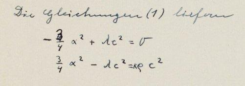 One of Einstein's mathematical mistakes. Credit: Albert Einstein Archives/Hebrew University of Jerusalem, Israel.