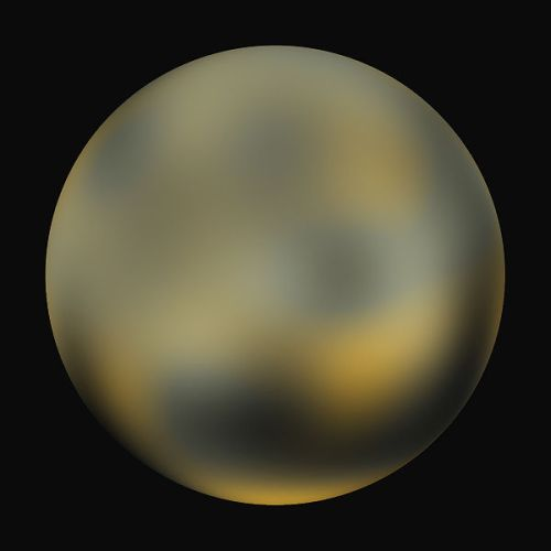 Pluto, a dwarf planet, as imaged by the Hubble Space Telescope. Expect better pictures next year.
