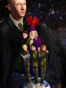 Fan-made cover art for HPMOR. Credit: Zerinity (DeviantArt).