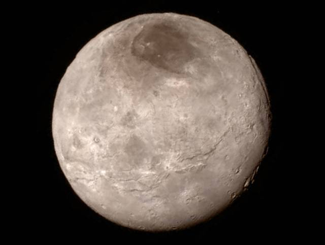 Pluto's largest moon, Charon. Credit: NASA.