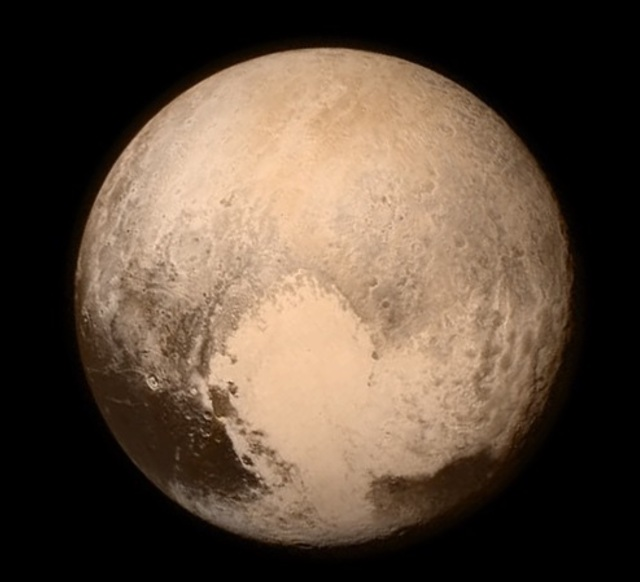 The last image of Pluto from before the New Horizons flyby, July 13, 2015. Credit: NASA.
